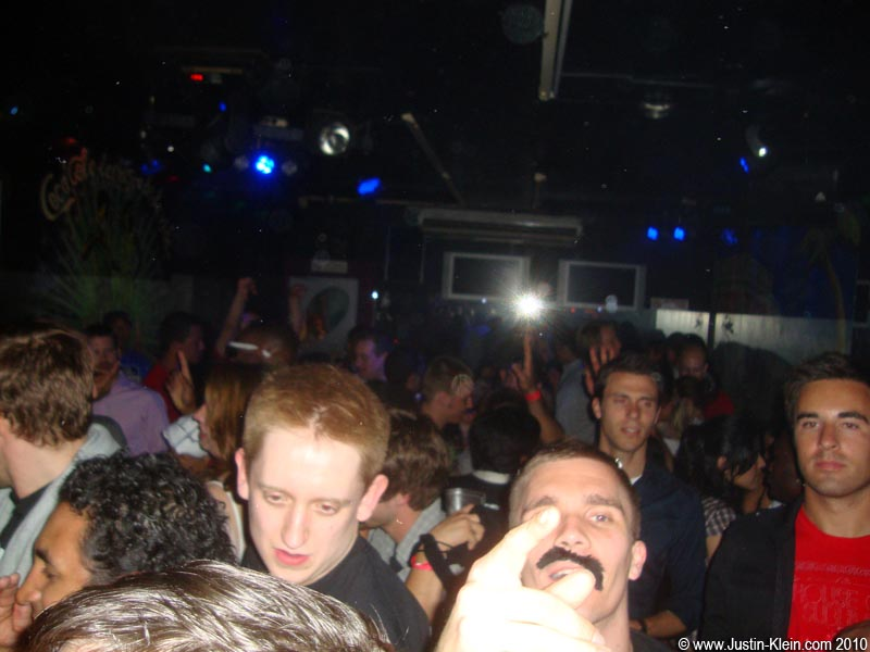 Towards the end of the pub crawl, only one Borat Mustache remained…and only just barely.