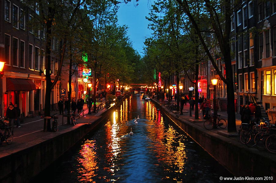 Amsterdam's Red Light District.