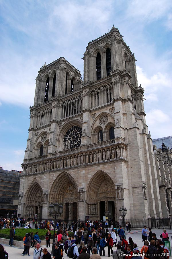 The world's most famous cathedral: Notre Dame.