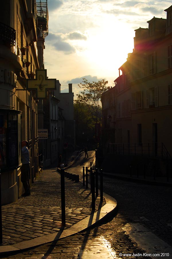 Sunset in Montmatre (the previous evening).