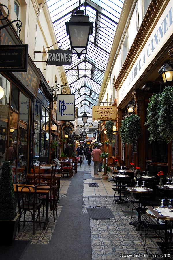 One of Paris' covered shopping arcades.