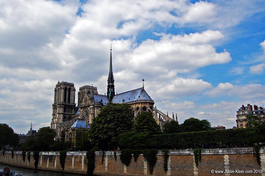 Notre Dame, viewed from across the Seine.