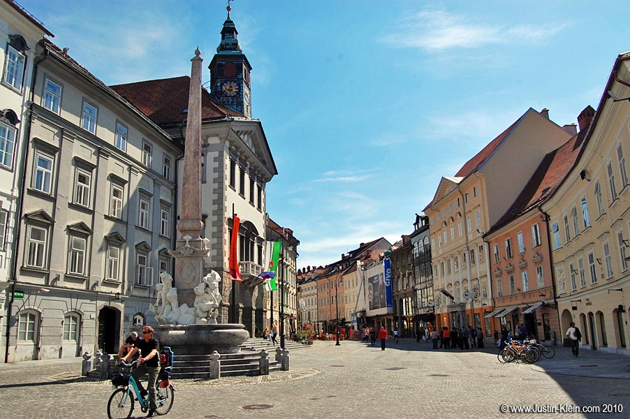 The Old Town area of Ljubljana.