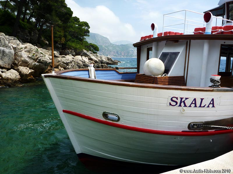 The boat to Lokrum.