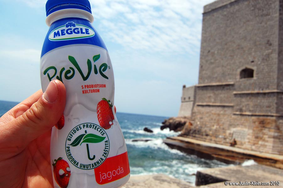 Drinkable yogurt; one of my staples while traveling.  I probably go through at least one of these every single day.