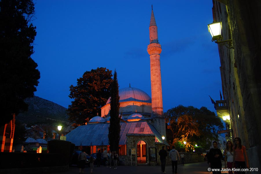 The largest of Mostar's countless mosques.