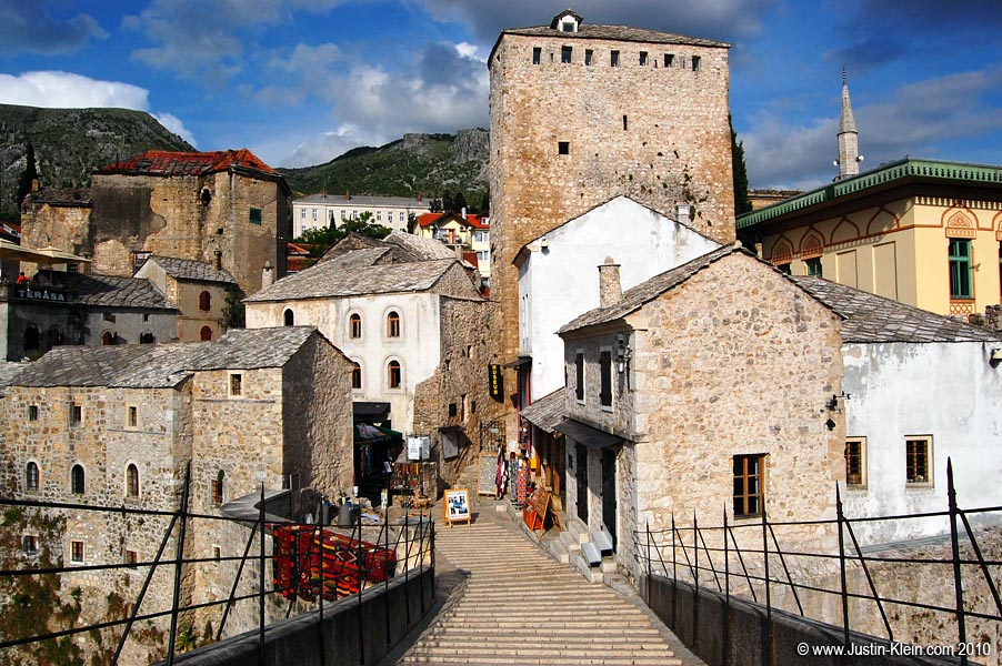 Standing atop Stari Most by day.