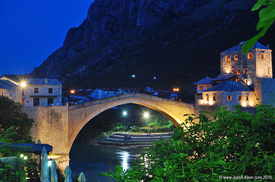 Stari Most, the focal point of Mostar's Old Town district.