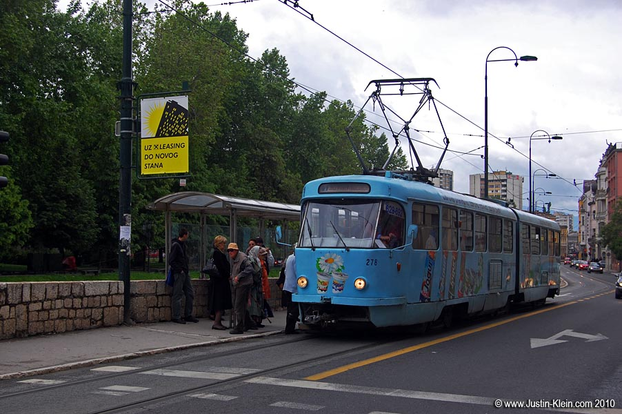 The tram stop where it all went down (photo taken the following day when it was no longer raining).