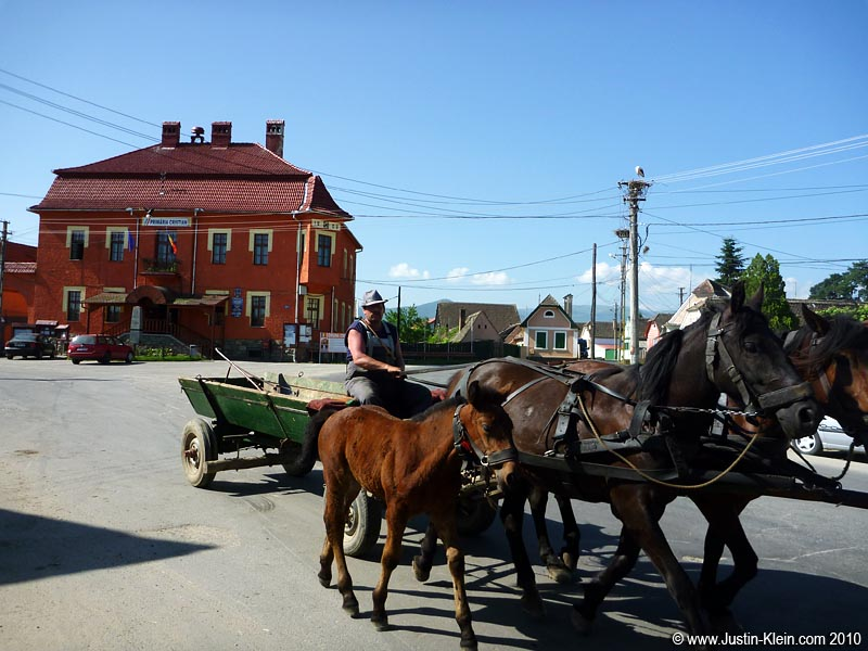 "A ""car"" pulling through the town square of Cristian Sibiu.  Photo taken in 2010.  I swear."