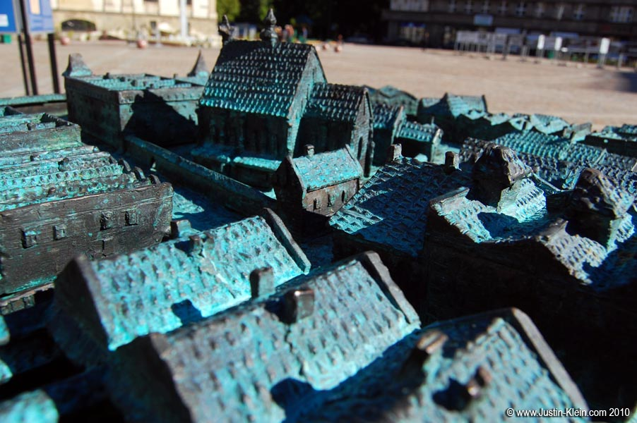A model of Old Town, Krakow.
