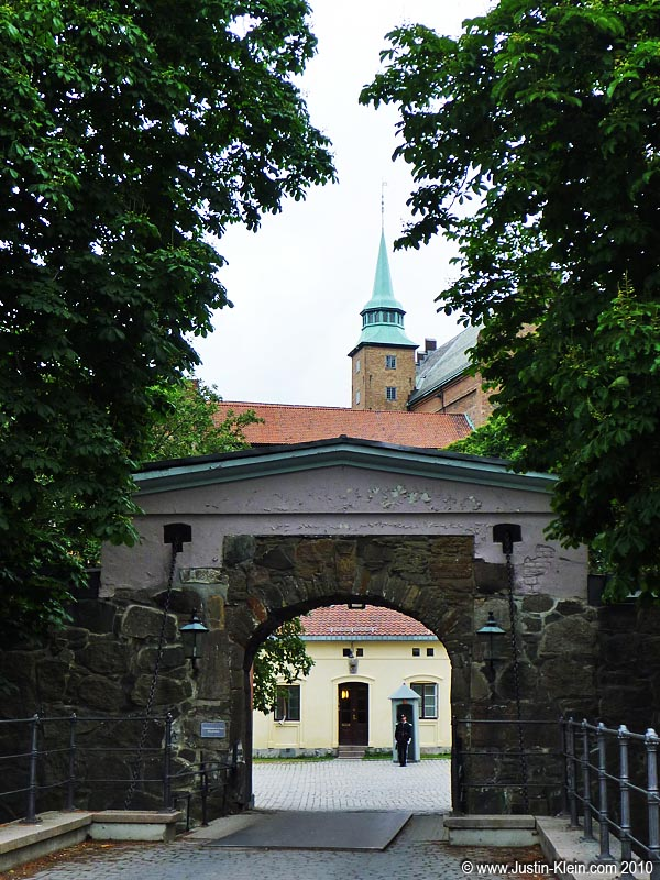 One of the entrances to Akershus Fortress (I think).