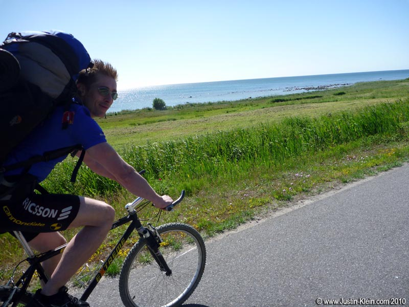 The day started beautifully: biking along the peaceful Danish coast.
