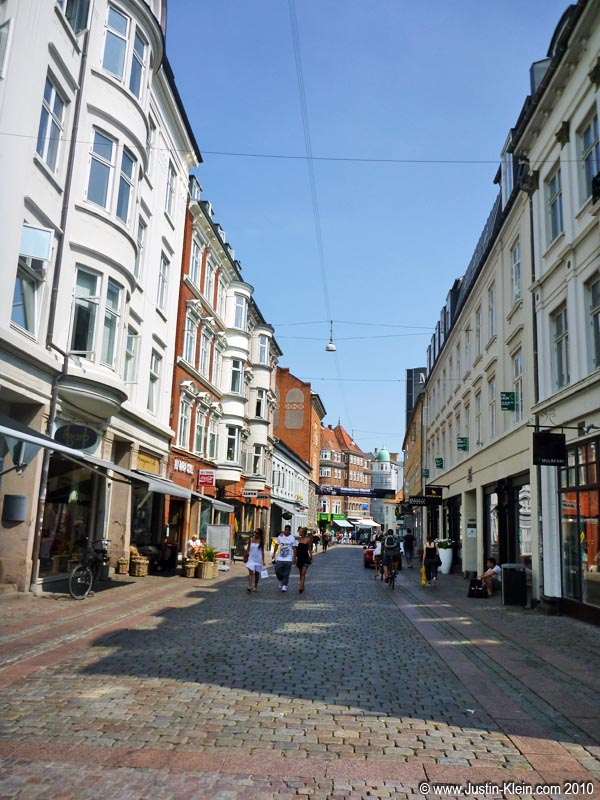 With some time to spare until the departure, we took a quick lap through Old Town Aarhus.
