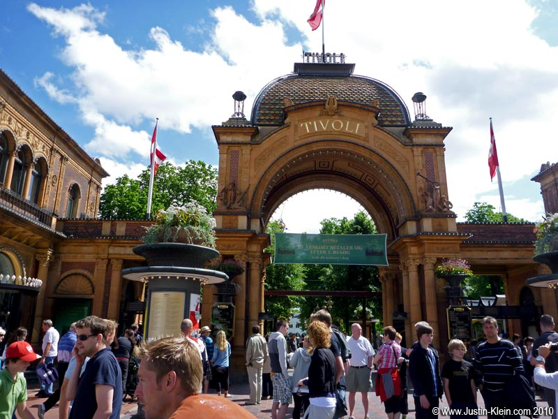 The entrance to Tivoli Gardens.  We didn't have time to go inside.