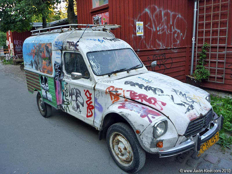 An old car in Christiania.