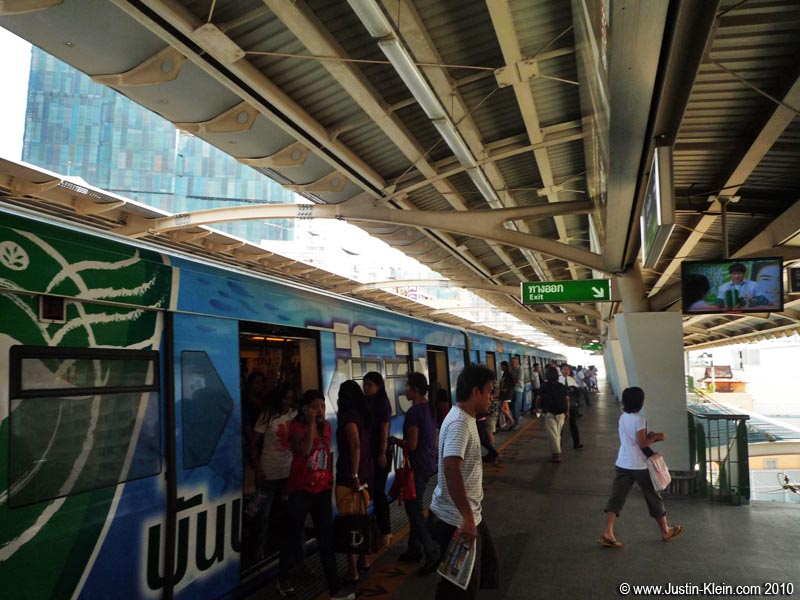 The BTS, an elevated train and one of Bangkok's main forms of mass transit.