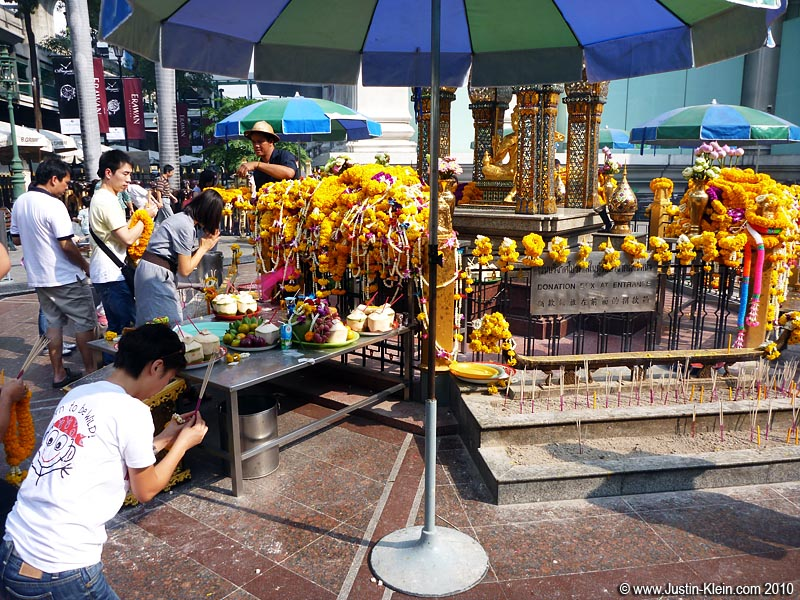 A small shrine we passed on the way to Siam Square.
