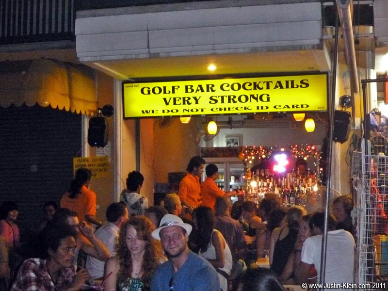A bar on Khao San Rd.  Still underage? No problem &#8211; &#8220;We do <i>not</i> check ID card.&#8221;
