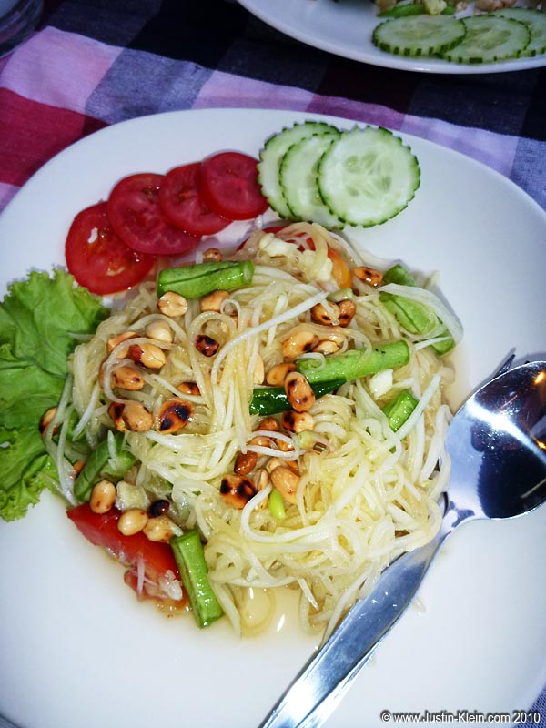 Shredded papaya salad.