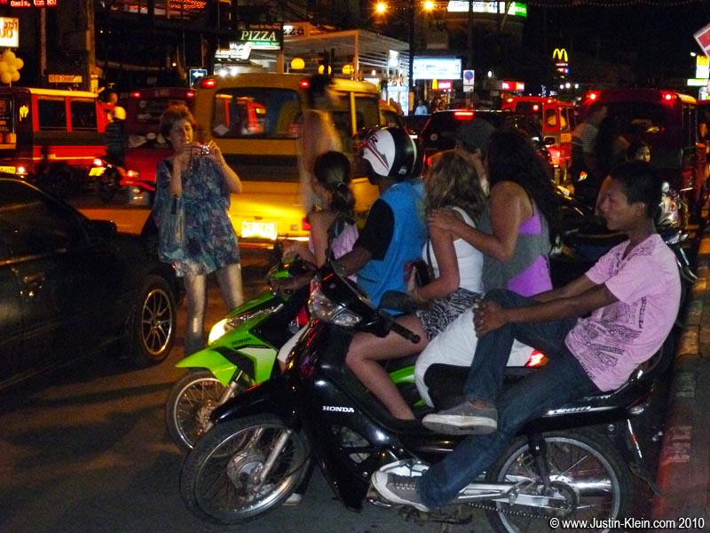 "When it comes to motorbikes in Thailand, the rule seems to be ""The more the merrier."""