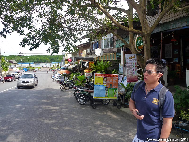 Lots of restaurants, lots of guesthouses, lots of English.  That's Krabi Town.