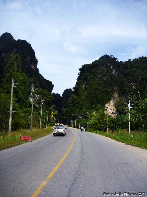 On the road from Krabi to Ao Nang.