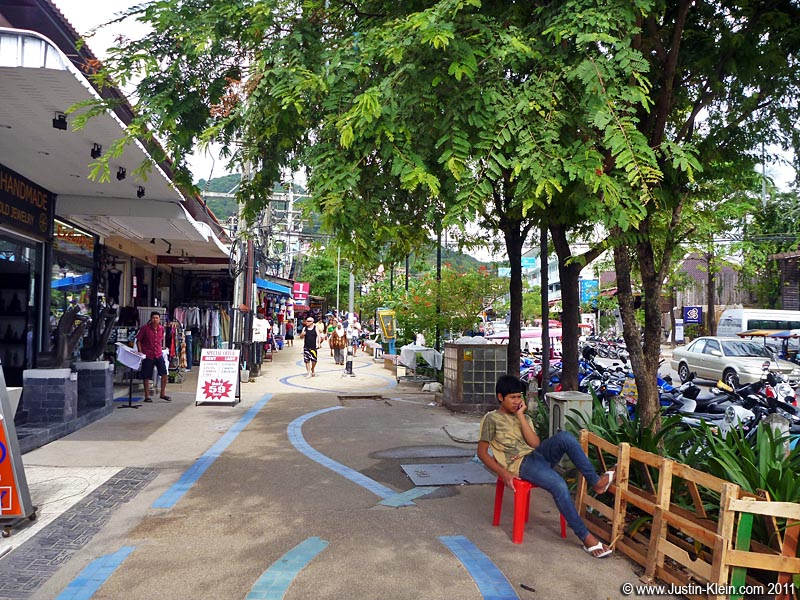 The main promenade in Ao Nang.  It felt like a beach in California – and was priced about the same.