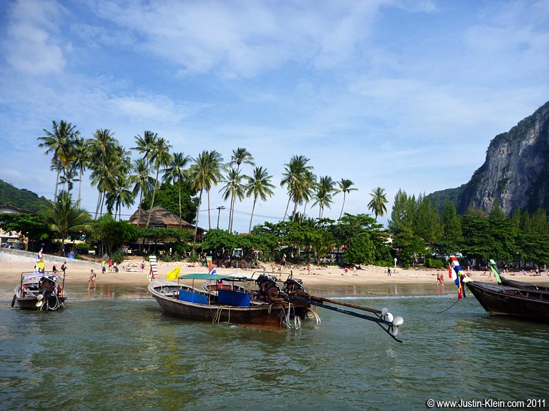 Longtails to Railay and Tonsai.