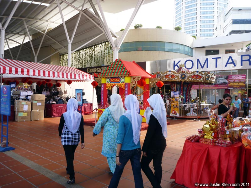 Komtar is starting to gear up for the approaching Chinese New Year.