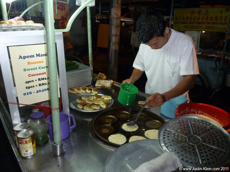 One great thing about Malaysia: a change in cuisine!  Street food seems just as plentiful and cheap as in Thailand, but with a whole new variety to sample.