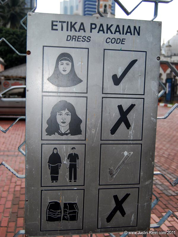 No exposed female hair allowed…