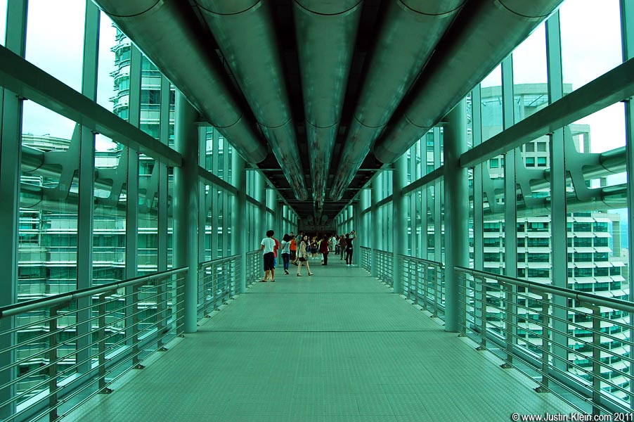 The skybridge joins the twin towers, one of which is used by the Petronas Corporation itself while the other is rented out. Its tenants include Microsoft, IBM, and Google.