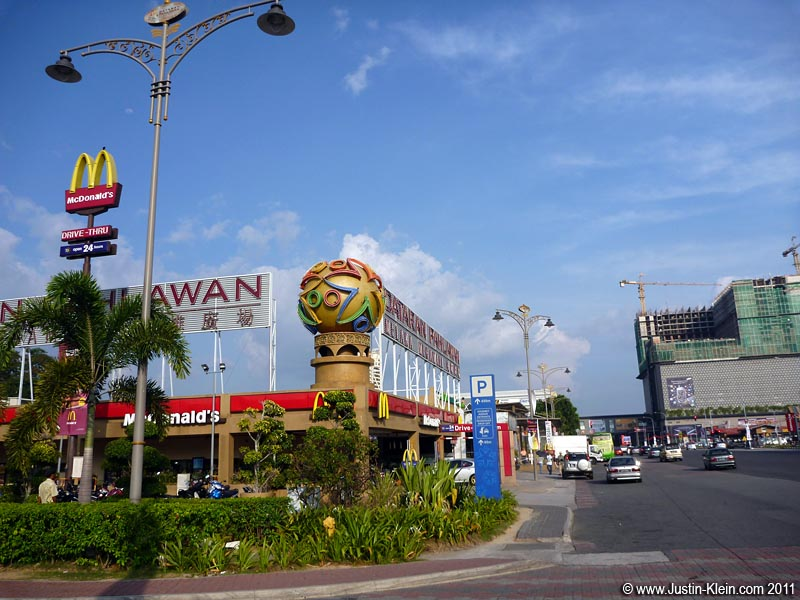 Whoa – is this still Melaka?  Fast food chains and shopping malls?