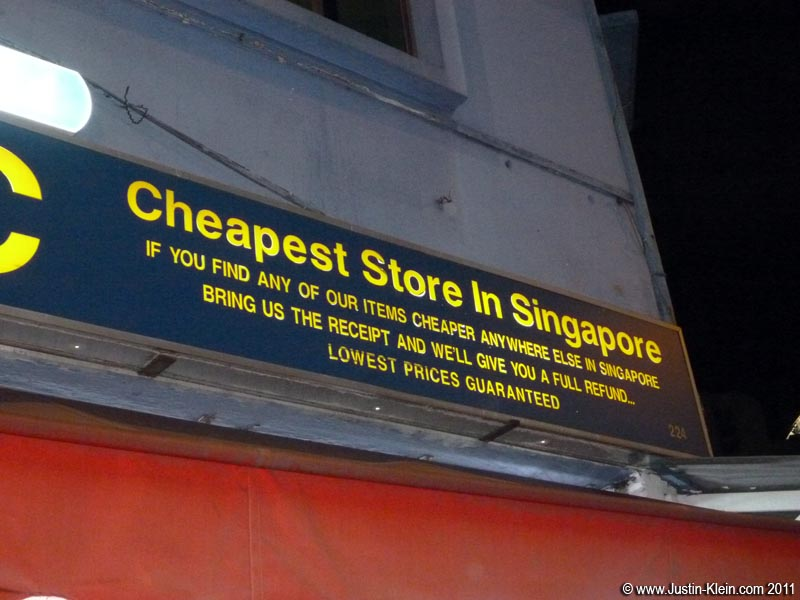 In much of Singapore the <i>only</i> language is English.