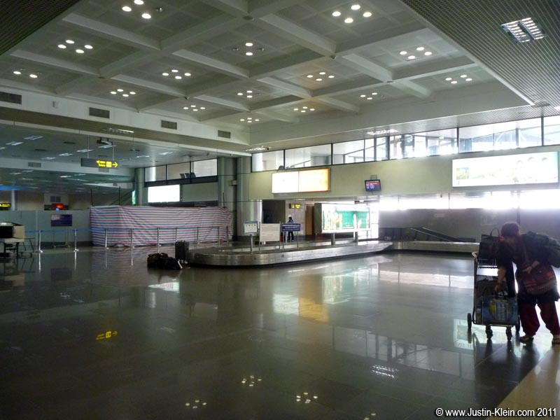 Baggage claim at Noi Bai International Airport.