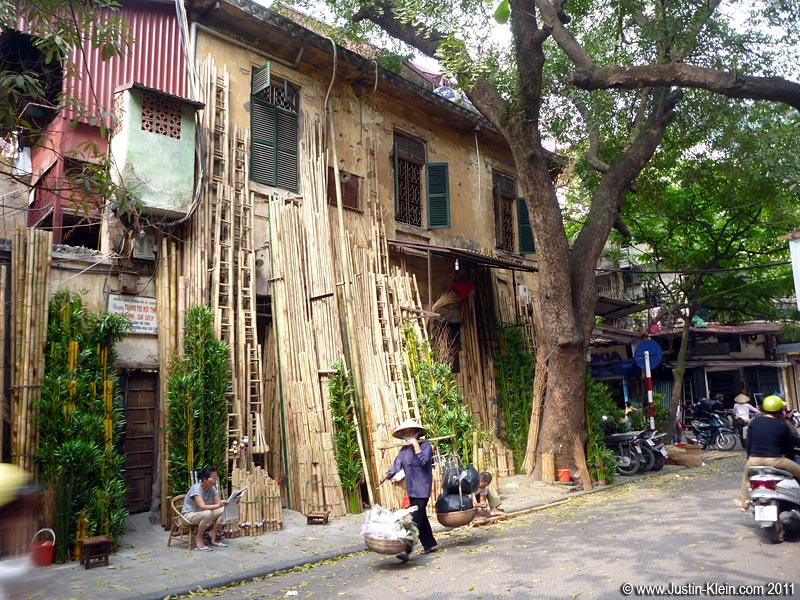 Each type of trade seems to have its own specialty street: a street for bamboo, a street for sunglasses, a street for silk, a street for vegetables, a street for anything else you could possibly think of.