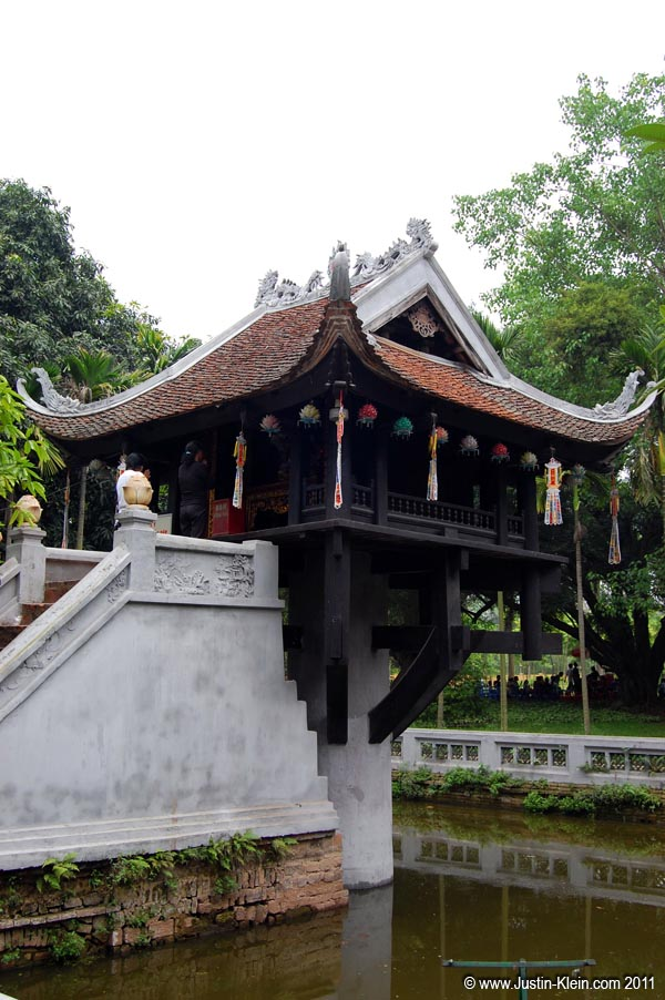 "Also inside the complex, the One Pillar Pagoda is described as ""a landmark of Hanoi."""