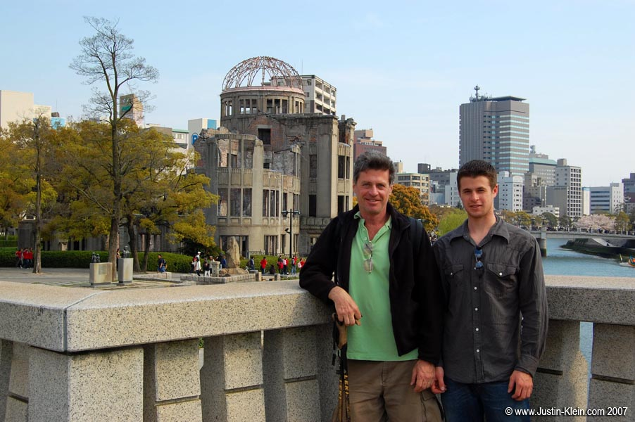 My dad and I in Hiroshima, when he came to visit me in Japan in mid-2007.