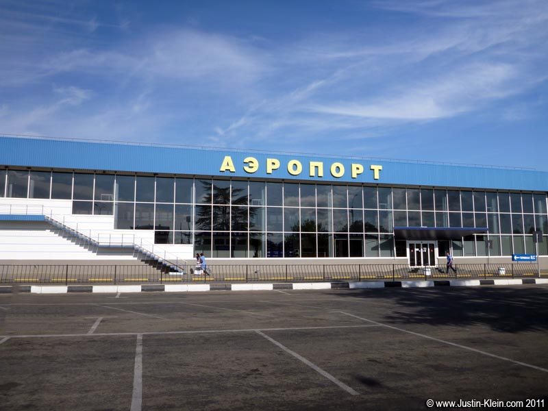 "The very ""out there"" Simferopol airport."