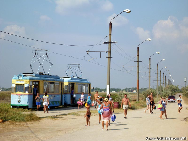 "This was one of the ""larger"" beach stops, with a tram bringing tourists in from the main road."