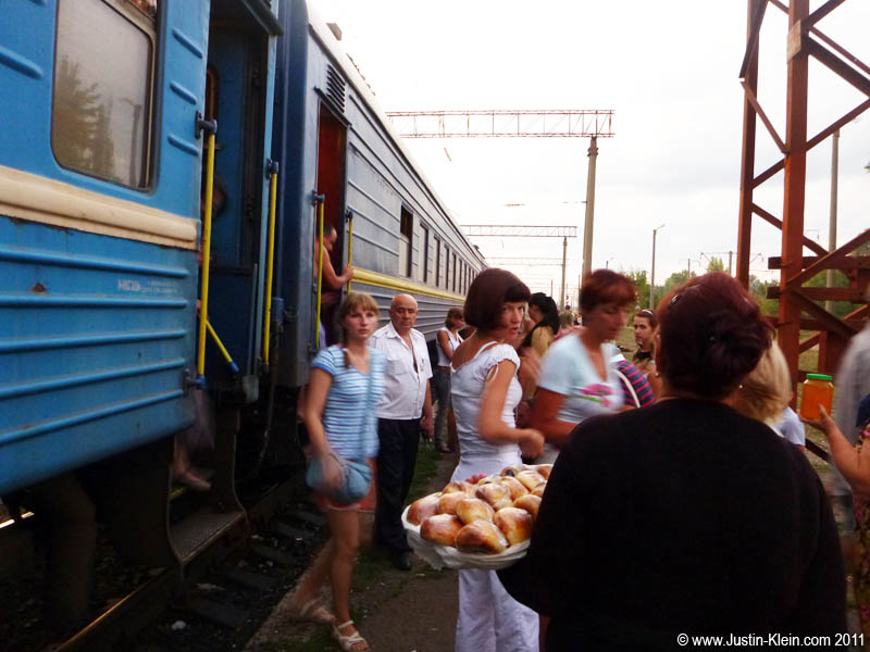 The best part of the ride were the brief 20-minute stops, just long enough try some homecooked food from the babushkas in the station. Tanya warned us not to…but we didn't listen : P