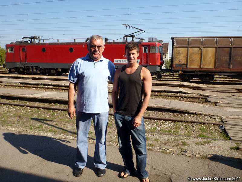Branko and I, just before I caught my train to Bulgaria.  I know he looks like a serious guy, but trust me…he's anything but serious : )
