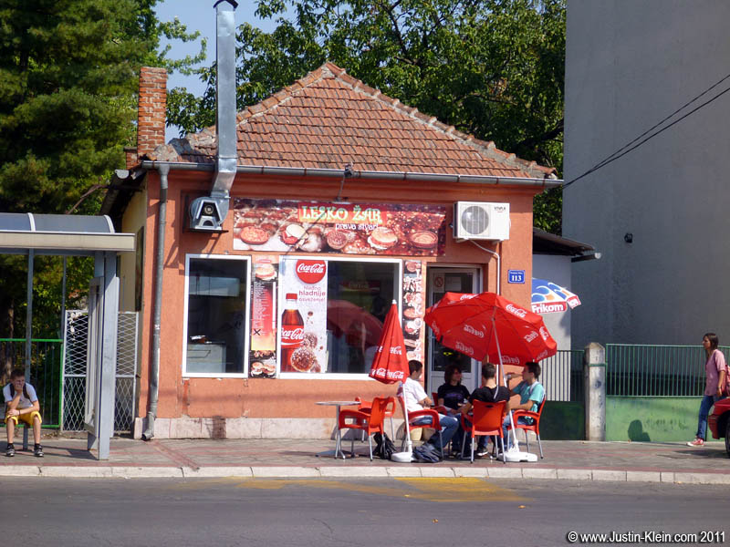 If you want fast food, your best bet is Serbia's national favorite, pljeskavica.  I probably had twenty at this particular shop – the employees and owner always knew exactly what I wanted.