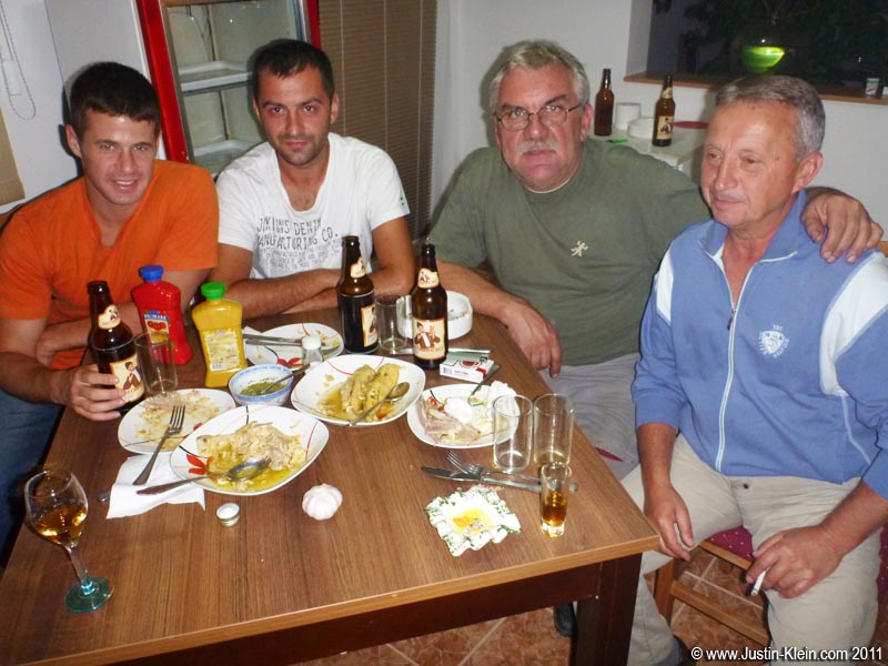 The first of countless homecooked meals shared with Branko, and the father-son pair living upstairs, Toni and Ratko.