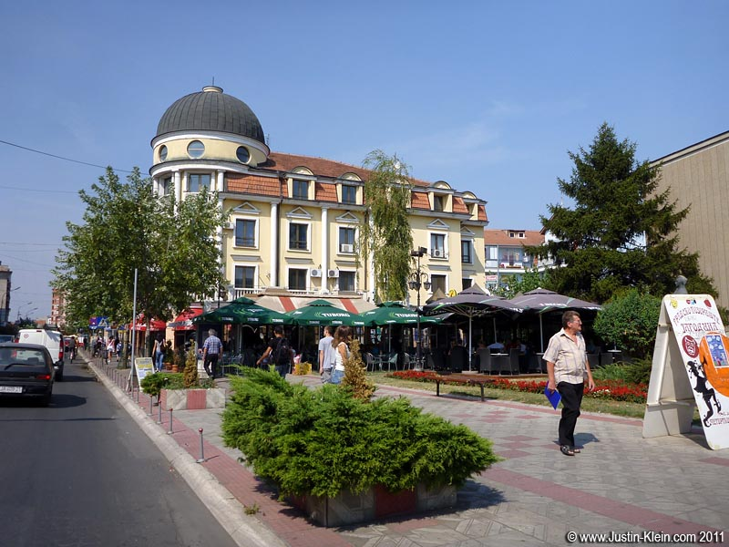 "The ""main"" street in central Jagodina has several sidewalk cafes, but I usually just worked at home."