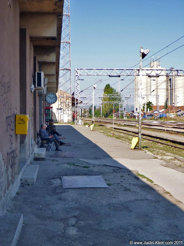 The train station in Jagodina, Serbia.