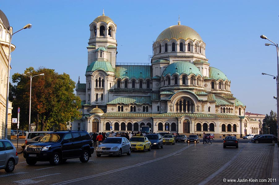 The majestic Alexander Nevsky Cathedral, an icon of Sofia.