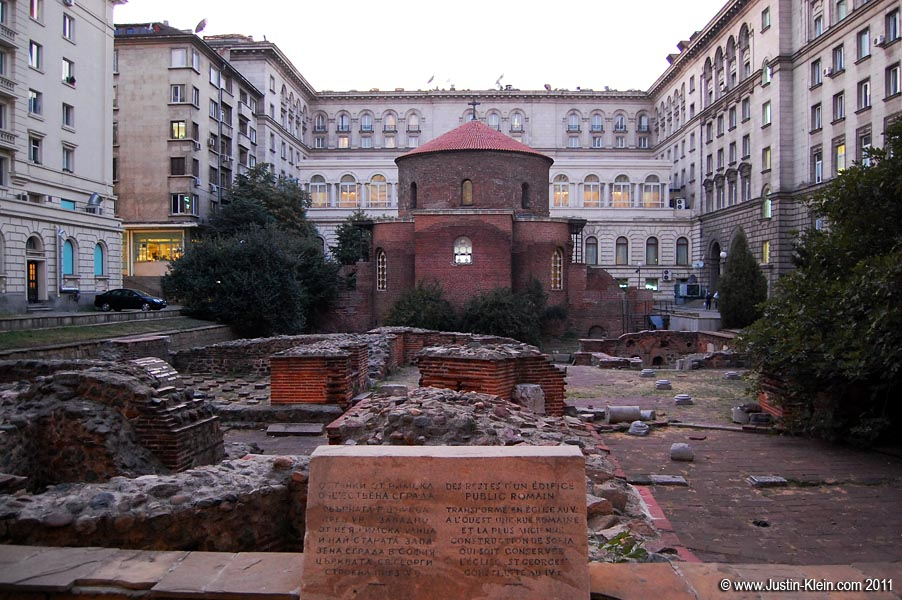 Just some Roman ruins right in the middle of town.