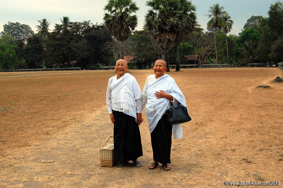 A cute pair of Cambodian monks.  They sure were happy : )